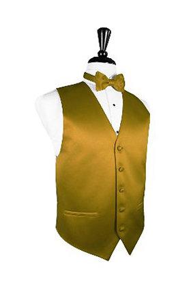 Satin New Gold Vest