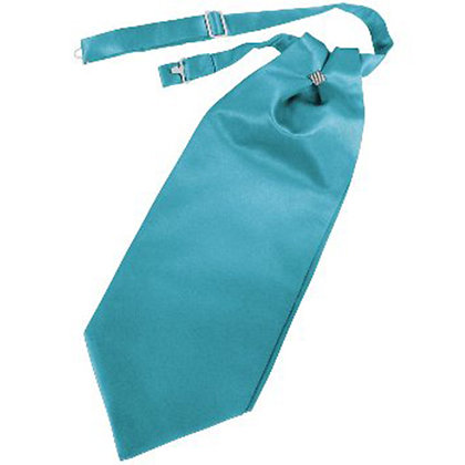 Turqoise Solid Satin Cravat