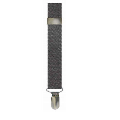 Charcoal Solid Suspenders