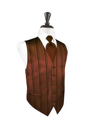 Striped Satin Cognac Vest