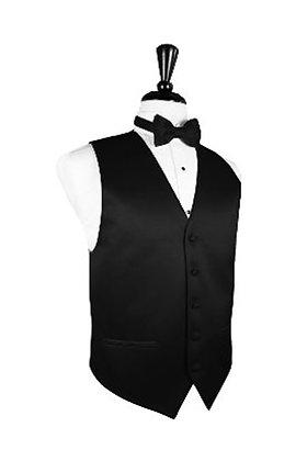 Satin Black Vest