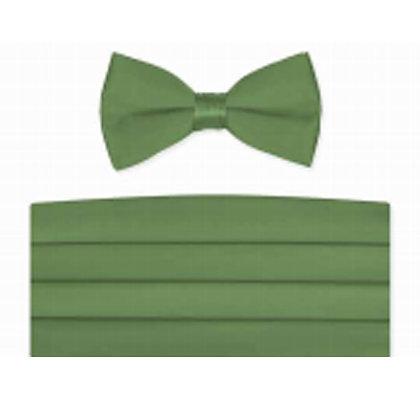 Clover Satin Bow Tie and Cummerbund