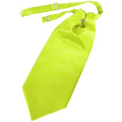 Lime Solid Satin Cravat