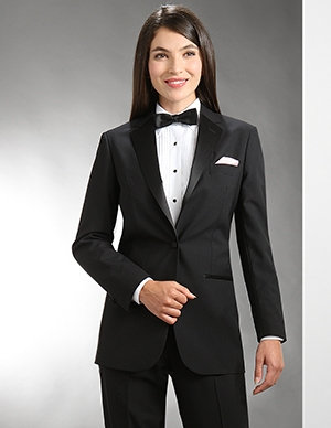 Ladies 1-Button Notch Tuxedo (Wool)