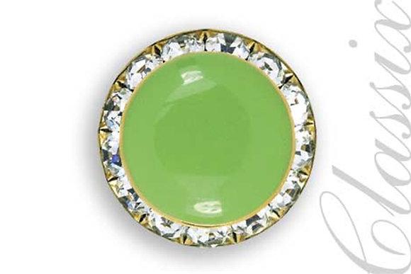 Lime Green Enamel Center Button Cover