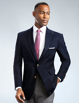 Navy 2B Traditional Blazer