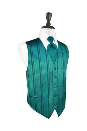 Striped Satin Jade Vest