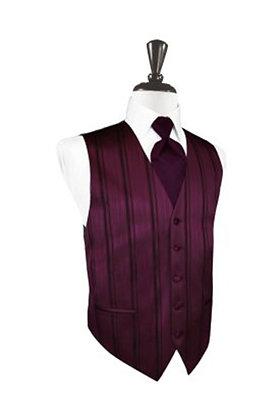 Striped Satin Berry Vest