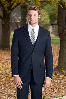 Slim Fit Navy 3-Piece Nested Suit