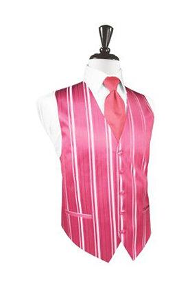 Striped Satin Bubblegum Vest