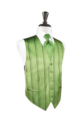 Striped Satin Sage Vest