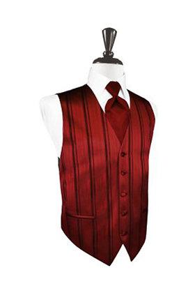 Striped Satin Apple Vest