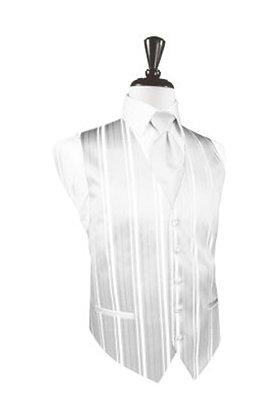 Striped Satin White Vest