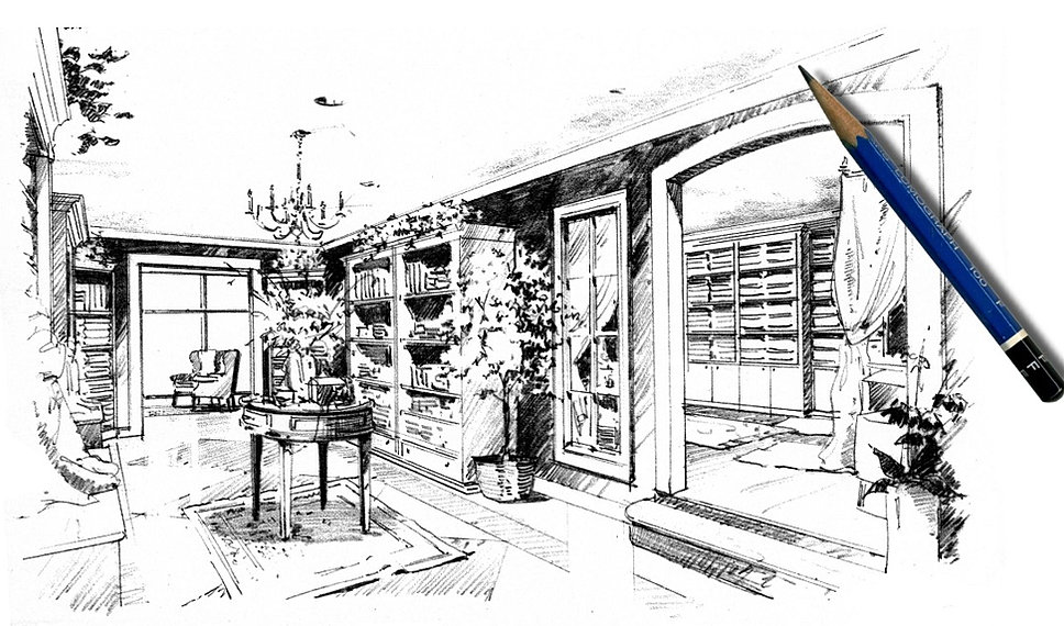 Point Of View Renderings Hand Drawn Architectural Renderings