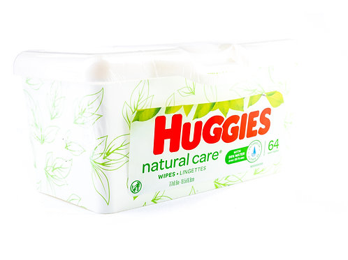 Huggies Natural Care Baby Wipes angle view