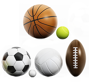 sports ball collage image