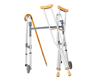 cane, walker, and crutches