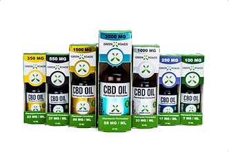 Green Roads CBD products lined up