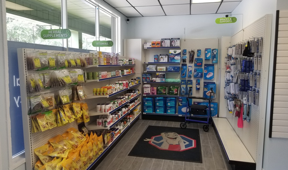 OTC section with a variety of supplies