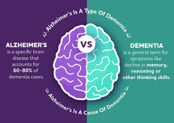 Infographic: Alzheimer's vs Dementia
