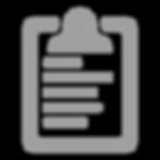 Gray Clipboard Icon