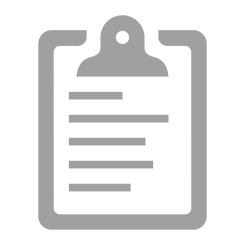 Gray Clipboard Icon