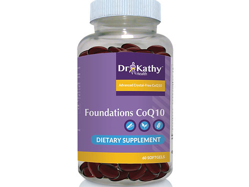 Dr. Kathy Foundations CoQ10 Bottle