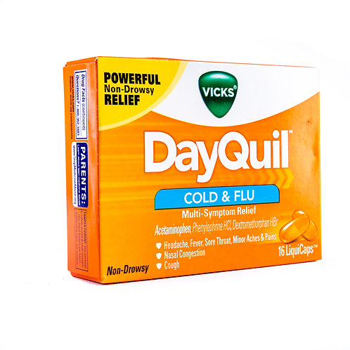 Vicks Dayquil Non-Drowsy Cold & Flu LiquiCaps angle view