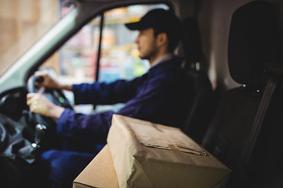 Delivery Drive With a Package