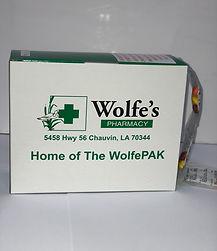 Wolfe's Pharmacy WolfePak pill packaging