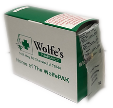 WolfePak pill packaging container