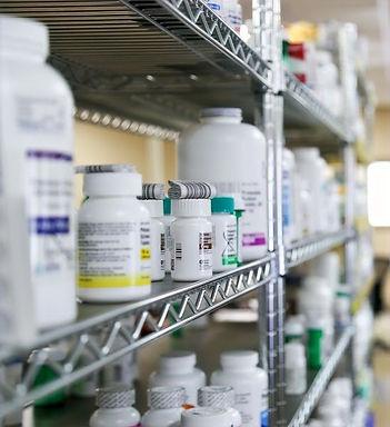 Medications on shelf