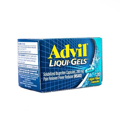 Advil Liqui-Gels Ibuprofen Pain Reliever/ Fever Reducer Capsules angle view