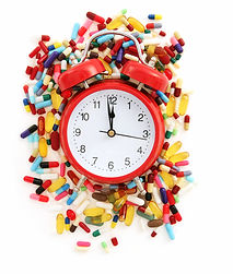 Clock wih pills