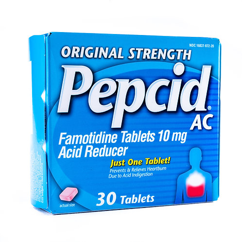 Pepcid AC Tablet Original Strength Angle View