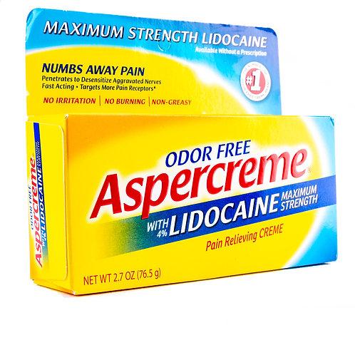 Aspercreme Maximum Strength Lidocaine Pain Relieving Cream angle view