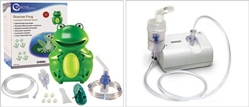 cute frog nebulizer for child and standard type small nebulizer for older kids and adults