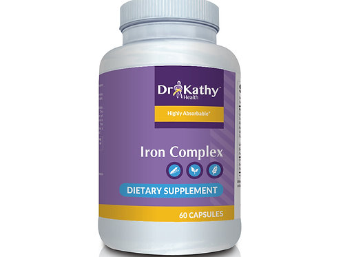 Dr. Kathy Health Iron Complex Bottle