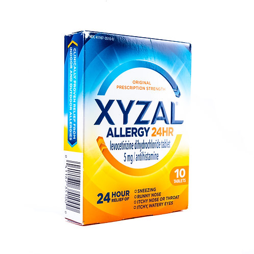 Xyzal Allergy Medicine Angle View