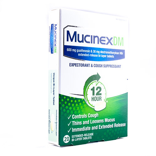 MucinexDM Maximum Strength Expectorant & Cough Tablet angle view