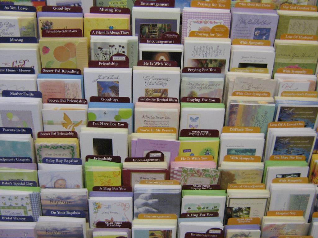 Wall of Greeting Cards