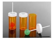 compounded lollipops in Rx bottle