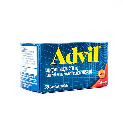 Advil Ibuprofen Pain Reliever & Fever Reducer Tablets angle view
