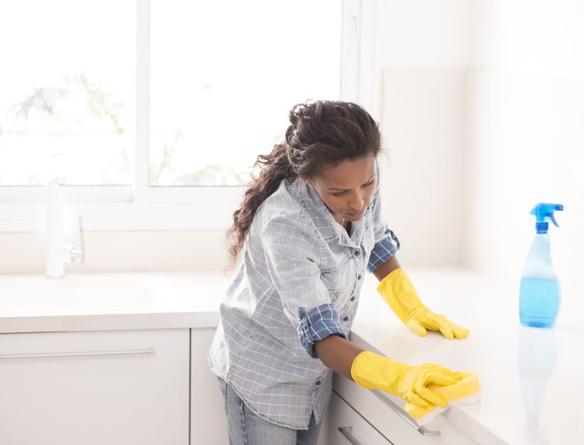 women cleaning inside home