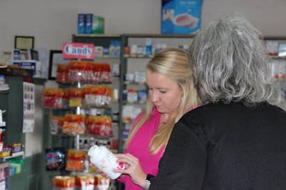 Erin assisting a customer