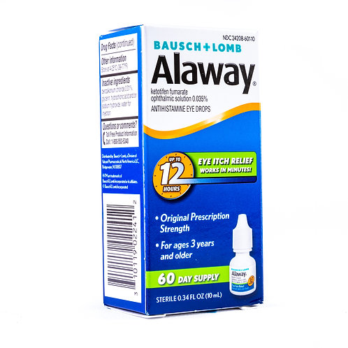 Bausch + Lomb Alaway Eye Itch Relief Antihistamine Eye Drops angle view