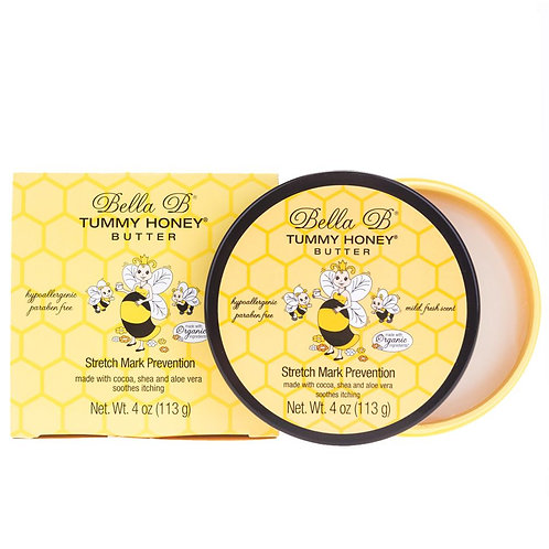 Bella B Tummy Honey Butter Stretch Mark Prevention - top view, open