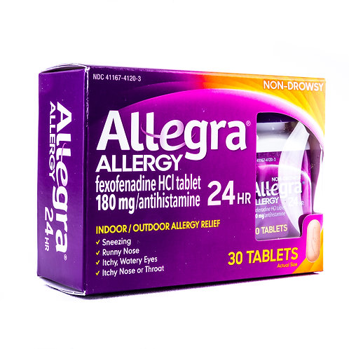 Allegra 24 Hour Allergy Relief Tablets angle view