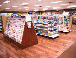 Card Stand Inside of Pharmacy