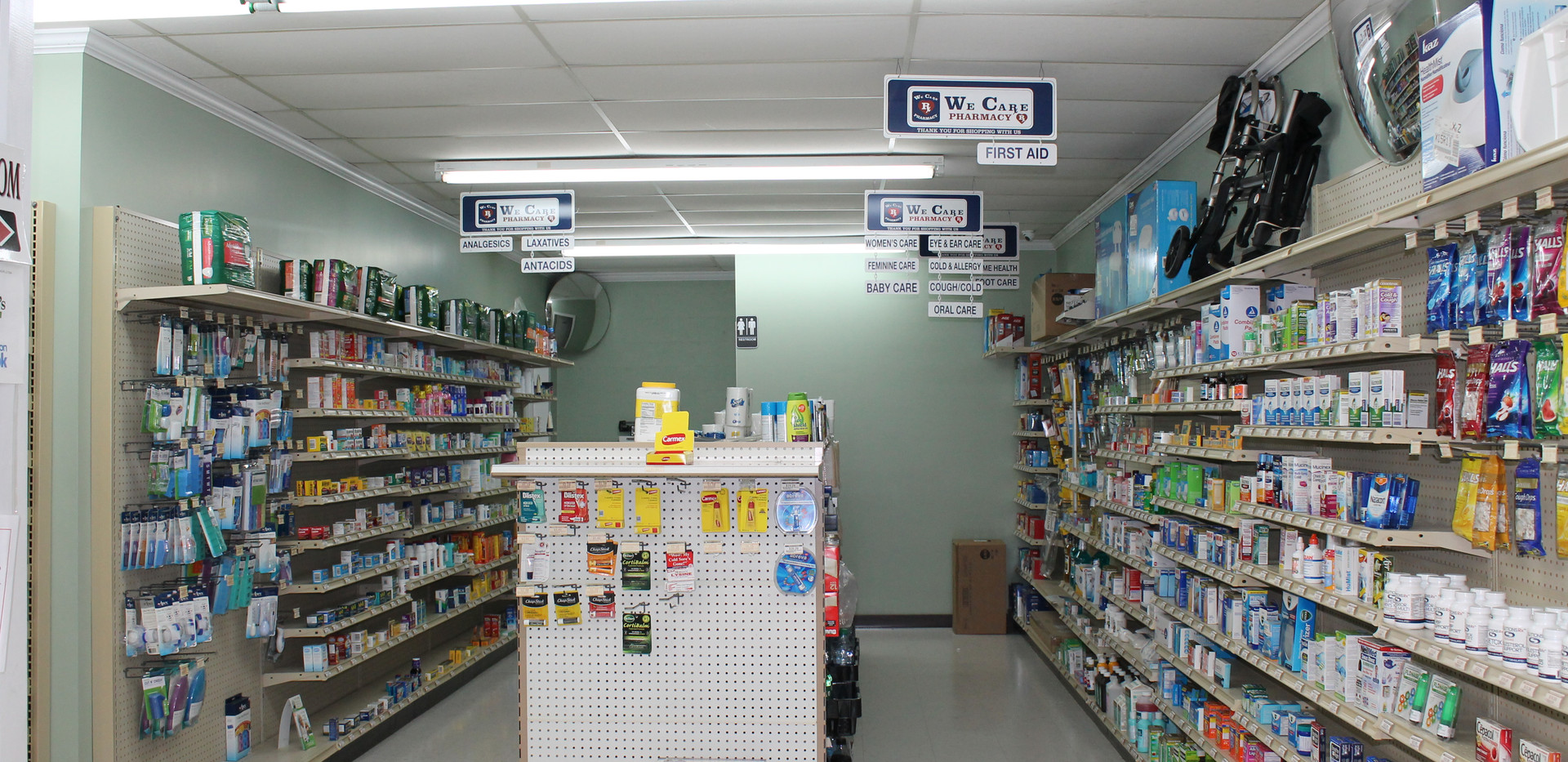 OTC section in Wolfe's Pharmacy
